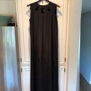 Jenni Kayne Silk Maxi Gown Black Small
